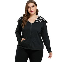 Plus Size Two Tone Halloween Jacket(BLACK 1X) - £18.38 GBP