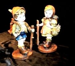 Swiss Boy and Girl Figurines Hiking - $128.65