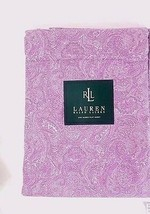 Ralph Lauren Monotone Paisley Purple Queen Flat Sheet - $58.00