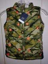 Gap Kids Girl's CAMO/HEART Zip Puffy Sleeveless VEST-S REG.-NWT-$44.99-CUTE/WARM - $19.79