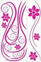 Hot Pink Swirl Mini Mural Appliques RMK1309GM - $21.25