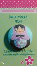 Matryoshka #7 Needleminder fabric cross stitch needle accessory - $7.00