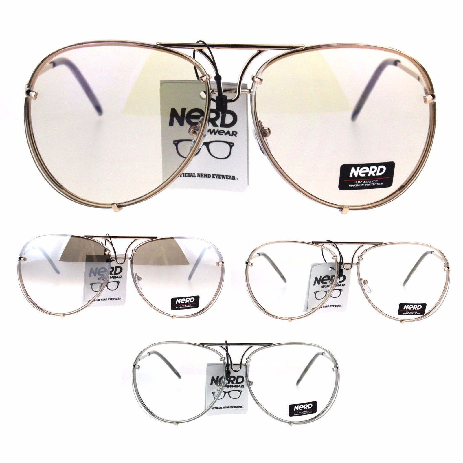 50520a0c7bb84 Mens Retro Vintage Rimless Officer Pilots and 50 similar items
