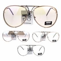 Mens Retro Vintage Rimless Officer Pilots Clear Lens Eye Glasses - $12.95