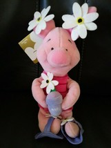 "Disney Winnie the Pooh FLOWER POWER PIGLET 8"" Bean Bag STUFFED ANIMAL To... - $14.80"