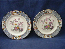 "2 Lenox Ming 5.75"" Bread Dessert Plates Black Maker's Mark - $19.95"