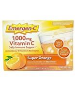 30 Ct Emergen-C 1000 MG Vitamin C Super Orange Daily Immune Support emer... - $34.64
