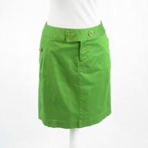 Bright green cotton blend BANANA REPUBLIC pencil skirt 4 - $24.99