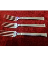 """Christofle Silverplate TRIADE Set of 3 Dinner Forks 8 1/8"""" FREE SHIPPING  - $187.11"""