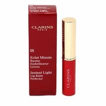 CLARINS INSTANT LIGHT LIP BALM PERFECTOR 1.8 G/0.06 OZ. #05-RED NIB-443451 - $20.79