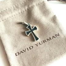 David Yurman Sterling Silver Knife-Edge Cross Amulet Pendant Authentic NEW 27mm - $156.75