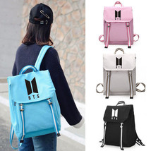 Kpop BTS Bangtan Boys Group Canvas Student Bag Backpack Travel Laptop - $23.59