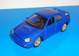 Maisto 1:40 Scale Loose Car Subaru Impreza WRS STi Blue w Opening Doors Friction - $4.00
