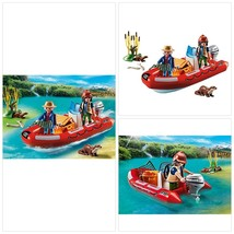 Playmobil 5559 Wildlife Floating Inflatable Boat with Explorers - $35.52