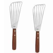 2 Pack Stainless Steel Fish Turner Spatula Slotted Flexible Flipper Cook... - €10,98 EUR