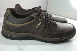 Rockport Men's Get Your Kicks Blucher Fashion Sneaker Brown Leather Size... - $59.35