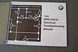 1984 Bmw 633csi Owners Electrical Troubleshooting Service Manual E24 Par... - $49.49