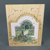 Rubber Stamp Until We Meet Again by D. Morgan Safe Travels Goodbye Flowers 90013 - $11.60