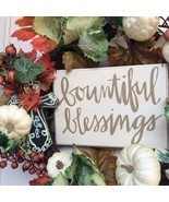AG Designs Fall Harvest Decor - Floral Wreath - Bountiful Blessings - £31.01 GBP