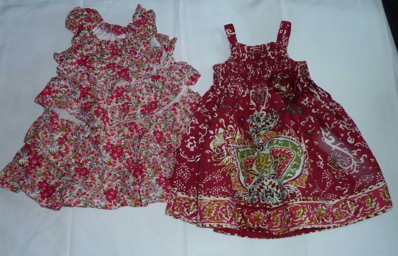 Primary image for BABY GIRL SUMMER SPRING CLOTHES OUTFIT  DRESS LOT FLORAL FLOWER 6-9-12