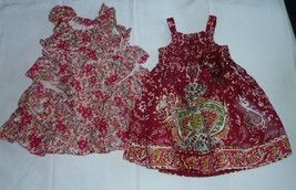 BABY GIRL SUMMER SPRING CLOTHES OUTFIT  DRESS LOT FLORAL FLOWER 6-9-12 - $18.80