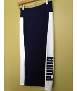 """NWT PUMA Archive Logo """"Peacoat"""" Navy Blue White Color Block Sexy Pencil ... - $29.00"""