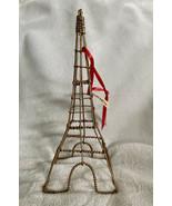 "New Metal Paris Eiffel Tower Table Decor Or Ornament Gold Wire 7"" Weddin... - $7.93"