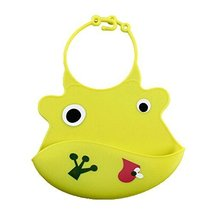 Lovely Yellow COW Adjustable Waterproof Silicone Baby Bib Pocket Bib 2026 CM