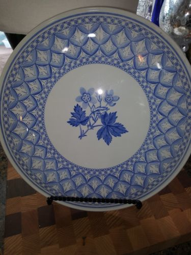 "Primary image for Spode Blue Italian LARGE 11 1/2"" Cake / Serving Plate /England/ YOUR CHOICE of 5"