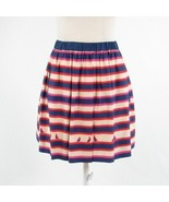 Dark blue red uneven striped cotton blend MARC BY MARC JACOBS A-line ski... - $54.99
