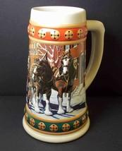 Budweiser Anheuser-Busch Christmas Stein HOMETOWN HOLIDAY 1993 - $12.55