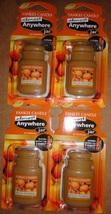 4 new yankee candle almost anywhere jar air freshener spiced pumpkin - $13.00