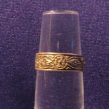 Vintage Marked 925 Flower Chain Patterned Toe Ring Or Band Adjustable - $10.65
