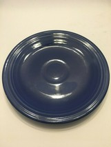 Fiesta Original Cobalt Blue Saucers 6 1/4 in Vintage Fiestaware Homer Laughlin - $5.94