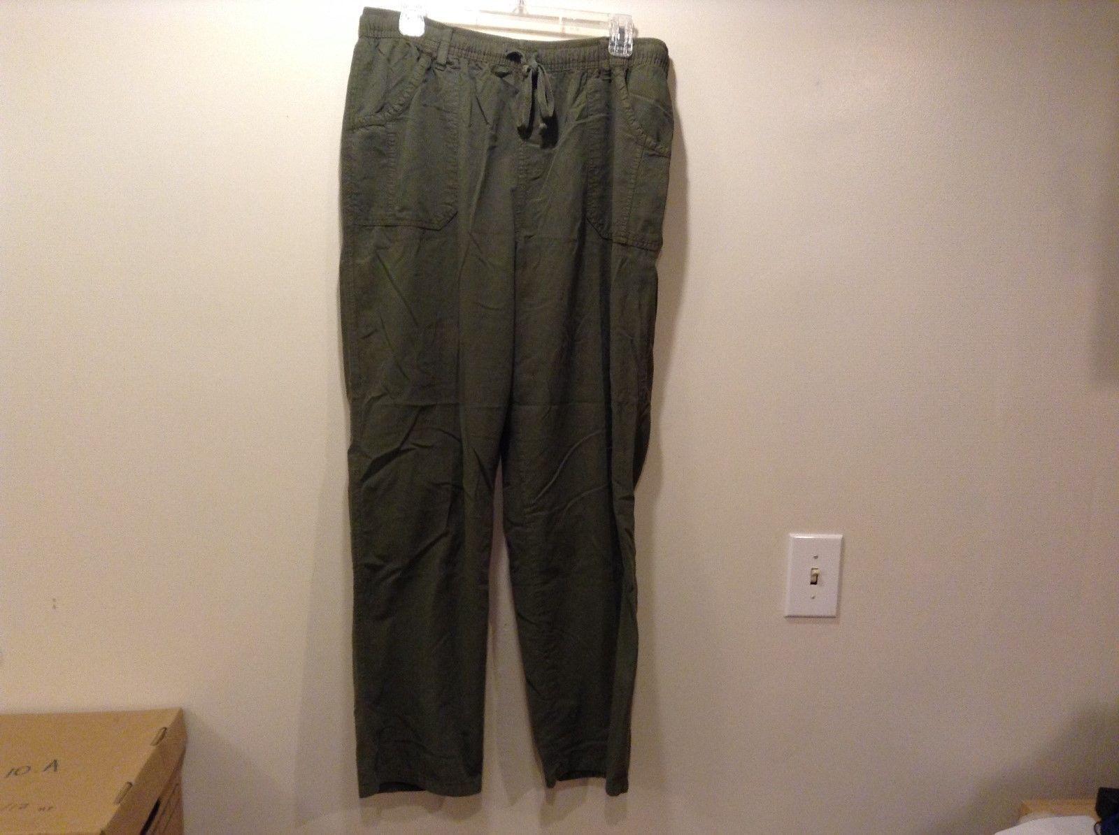 ERIKA Dark Green Yoga Pants Sz LG
