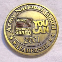 US Army National Guard You Can 2001 Leadership Challenge Coin w/ Values - $6.88