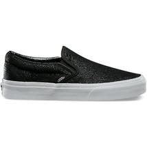 Vans Classic Slip On (Pebble Snake) Gray Black White Womens Casual Shoes - $52.95