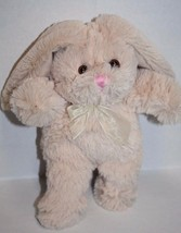 "Animal Adventure BEIGE Plush EASTER BUNNY RABBIT 9"" White Tail Soft Toy ... - $13.52"