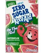 Zero Sugar Kool-Aid Watermelon 3 Boxes 18 Singles On The Go Sugar Free A1 - $14.80