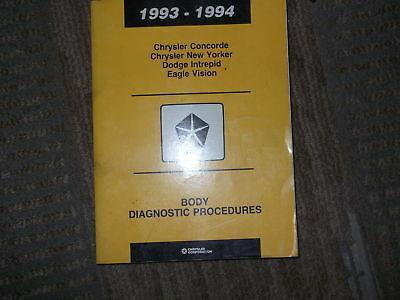 1994 Chrysler Concorde Körper Diagnose Procedures Service Shop Repair Manual OEM