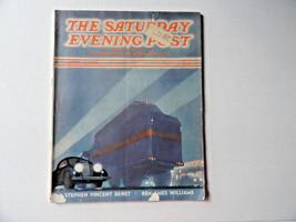 Saturday Evening Post Magazine April 9 1938 Complete Art Deco Cover Cars... - $12.99