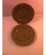 TABLETOPS UNLIMITED--BARCELONA--SET OF 2 SALAD PLATES--GREEN--SHIPS FREE... - $21.55