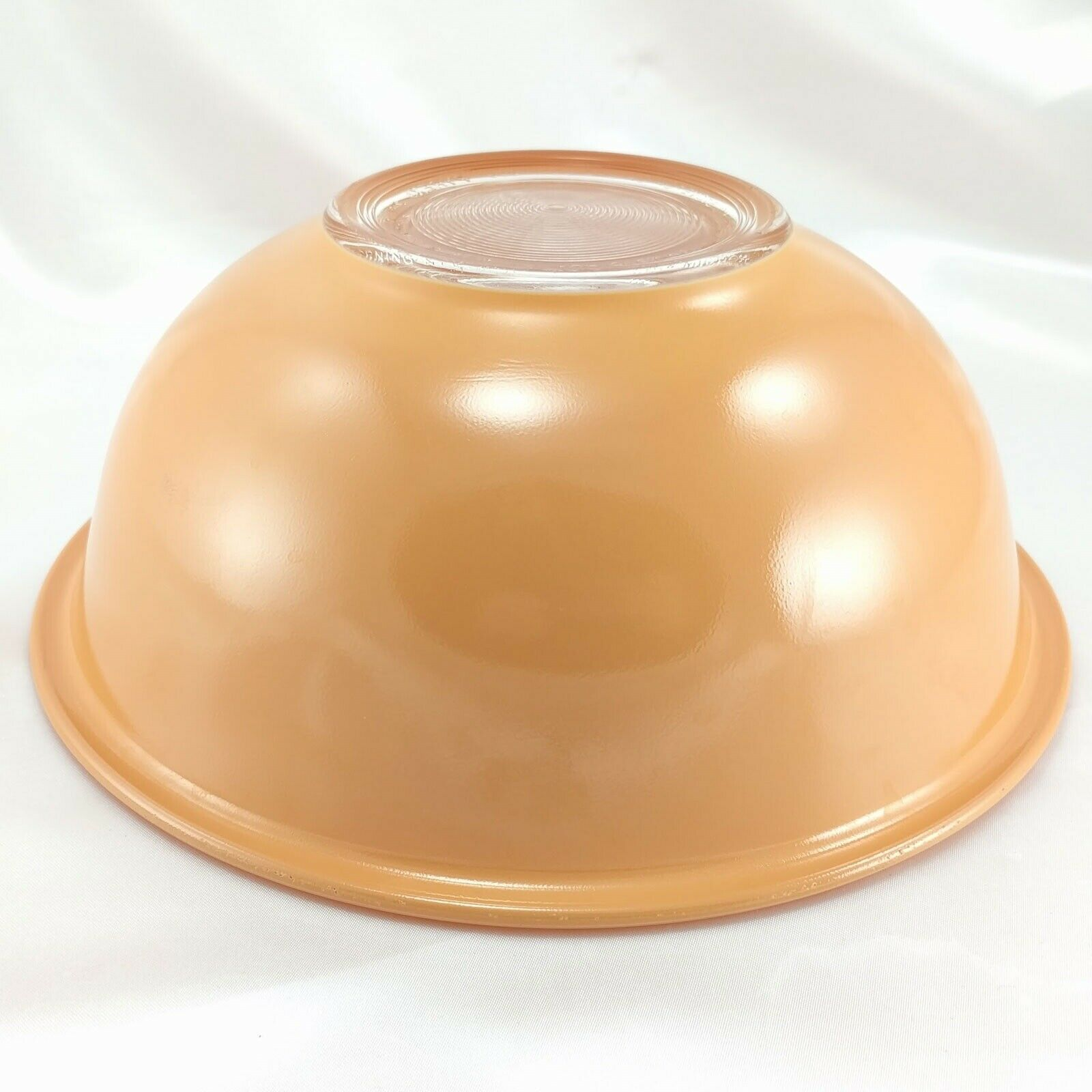 Pyrex 325 Clear Bottom Bowl Beige & Tan Vintage 2½ qt Serving Made in the USA image 3