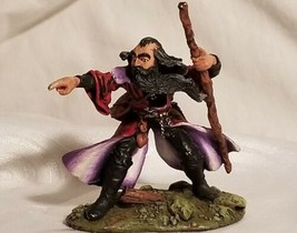 Pro Painted Signed Minature Red Eye Wizard with Staff DnD Dungeons Dragons  - $66.45
