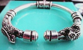 Barry Kieselstein Cord Perched Pair of Frogs Sterling Bracelet Hinged Op... - $499.95