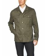 Calvin Klein Mens Slim-Fit Military Button Down Shirt Jacket XL Green - $39.95