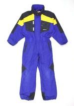 Vintage 90s Obermeyer Purple Snowsuit Jumpsuit Coveralls Hood Ski Snow B... - $123.74