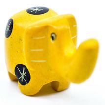 Tabaka Chigware Hand Carved Kisii Soapstone Miniature Yellow Elephant Figurine image 4