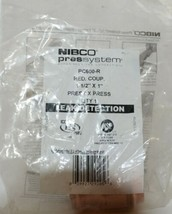 NIBCO 1 1/2 Inch x 1 Inch P x P Press Reducing Coupling 9002100PC image 1