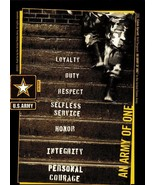 "PICTURE POSTCARD-""AN ARMY OF ONE""-SSG CALVIN GARRETT, DRILL SGT. ARMY PR... - $1.23"